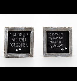 """Adams & Co. Best Friends/Never Forgotten Reversible Pet Sign 5"""" x 5"""""""