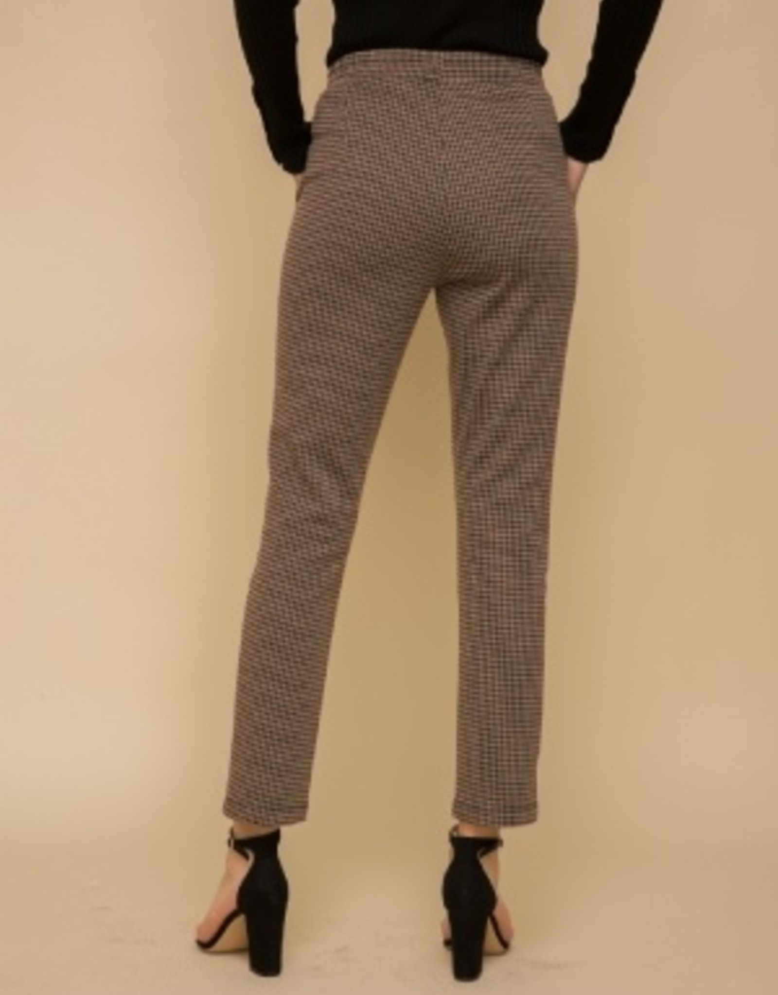 Houndstooth Straight Leg Pant