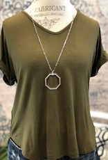 Rolled Sleeve Top - 3 Colors Available