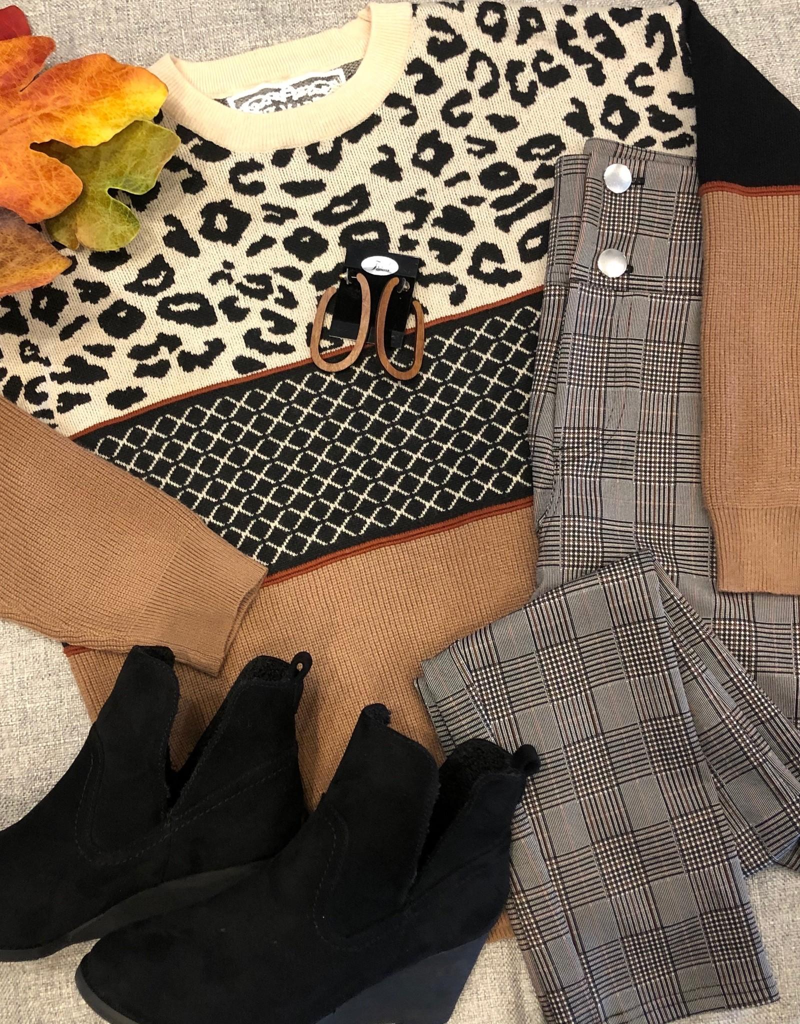 Serenity Leopard Stripe Sweater