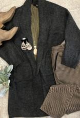 Cozy Grey Paisley Cardigan