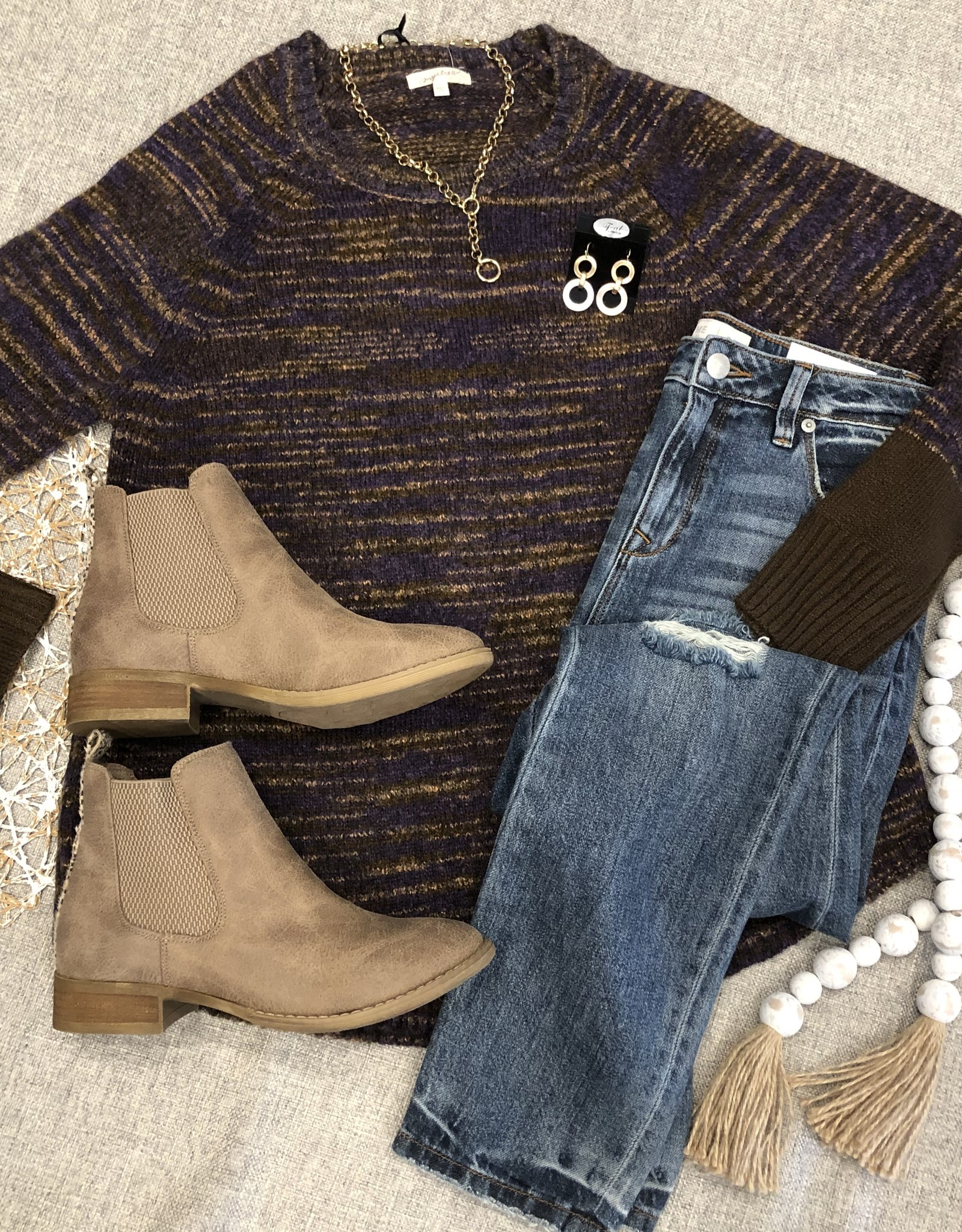 Mixed Plum Sweater