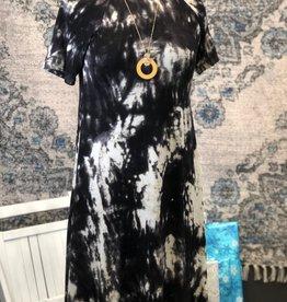 Tie Dye Mock Neck Dress