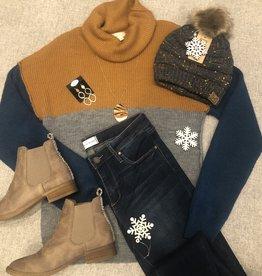 Camel Colorblock Sweater