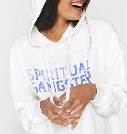 Spiritual Gangster Varsity Pullover Cropped Hoodie
