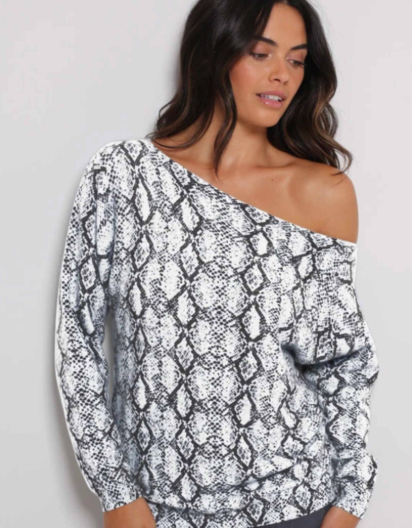 Minnie Rose Cashmere Off the Shoulder