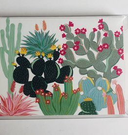 waste not paper Blank, Colorful Cactus, Notecards
