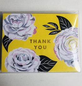 "waste not paper ""Thank You""  Yellow Flower, 10 Card & Envelope Pack"