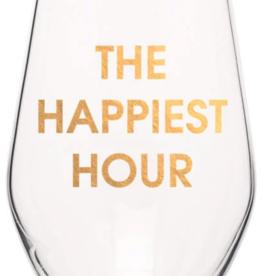 Chez Gagne The Happiest Hour, Wine Glass