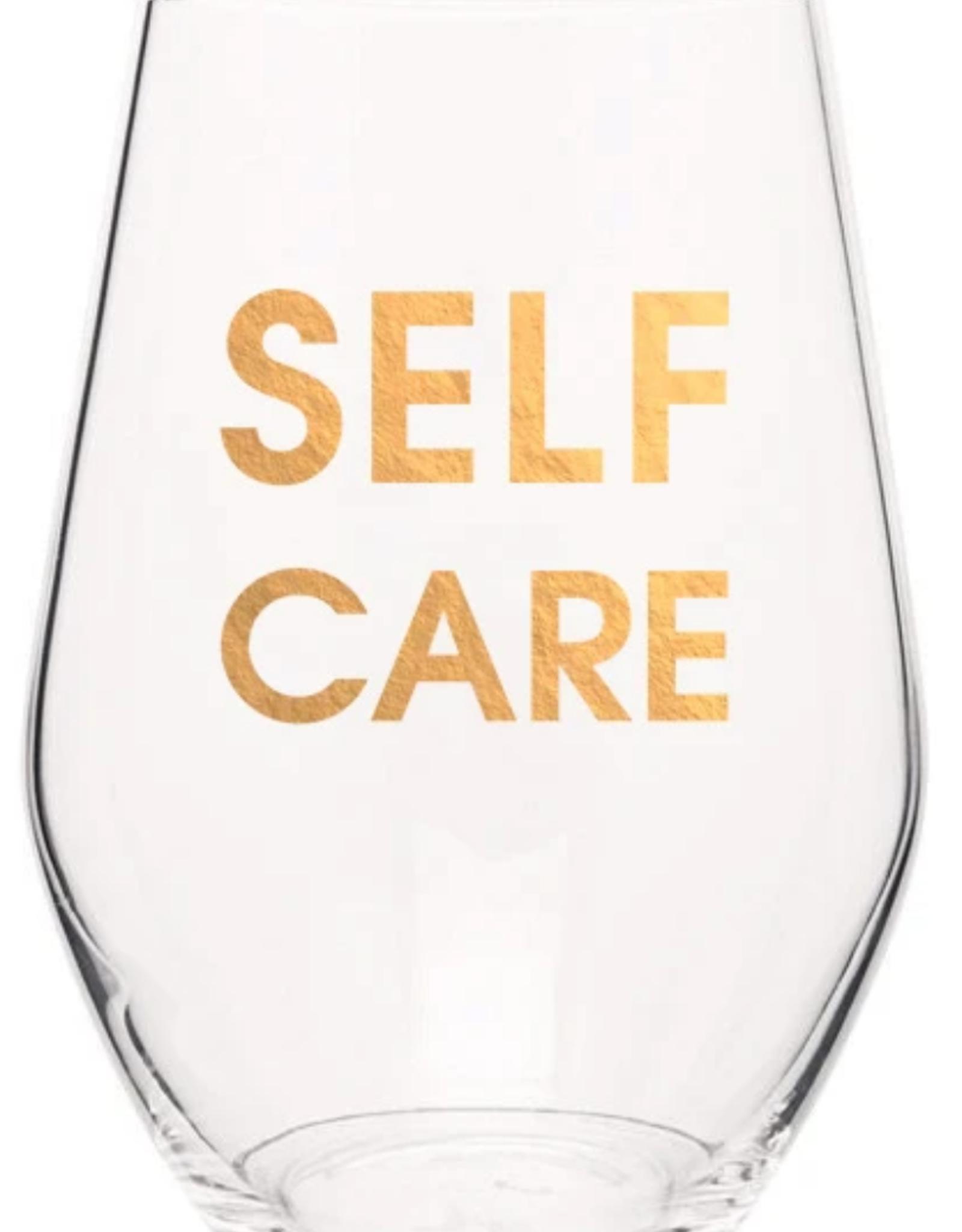 Chez Gagne Self Care, Gold, Wine Glass