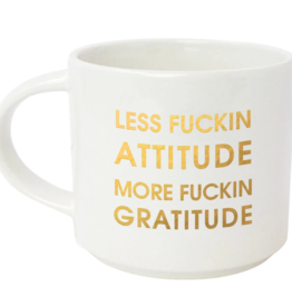 Chez Gagne LESS FUCKING ATTITUDE, Mug
