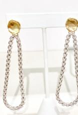Gold + Stone  Venetian Earrings