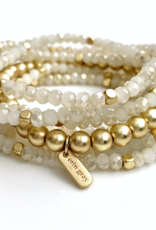 Erin Gray White + Gold Accent Sack Bracelet