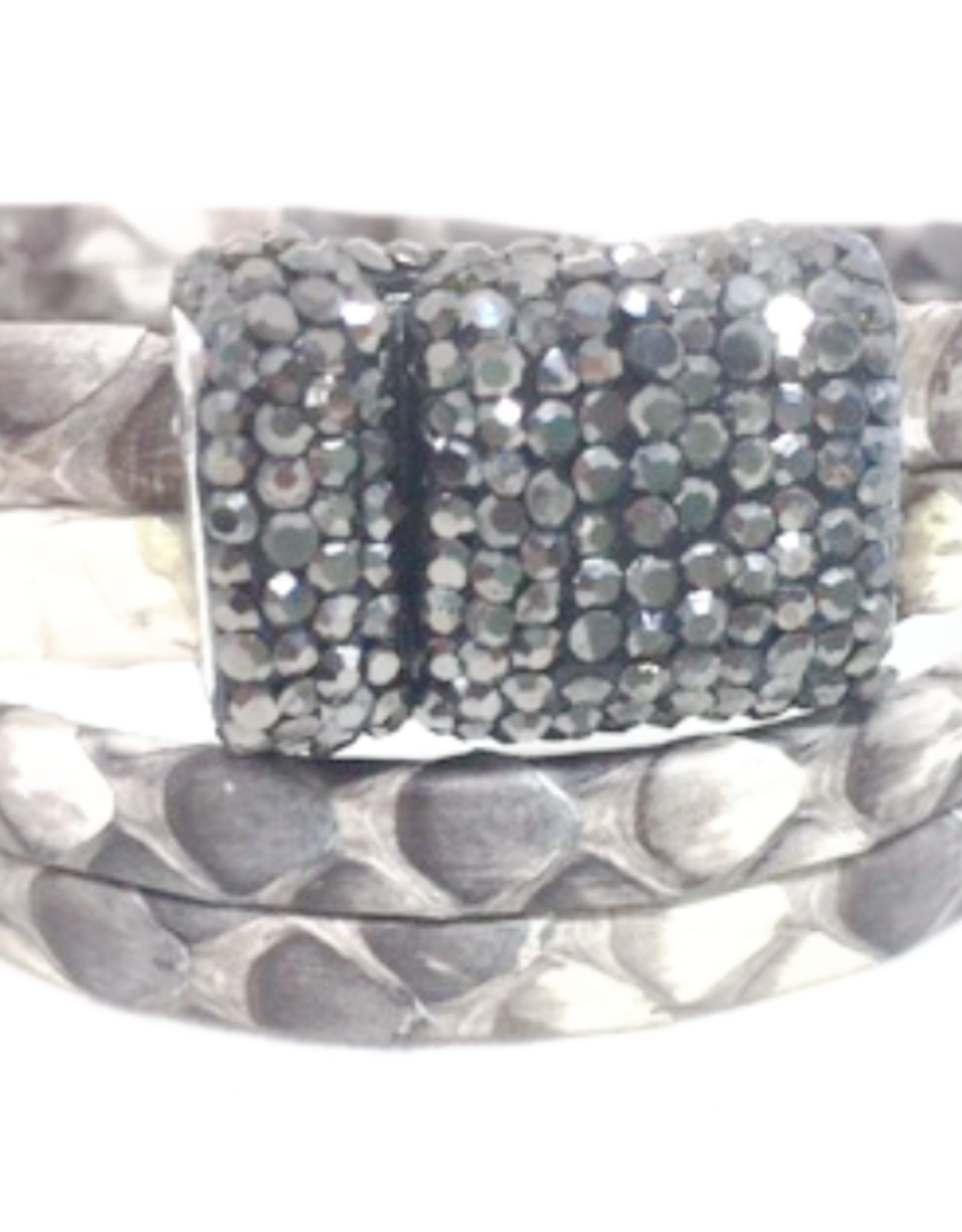 Erin Gray Gunuine Snake Leather Double Wrap Bracelet