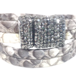 Erin Gray Gunuine Snake Leather Double Wrap Bracelet