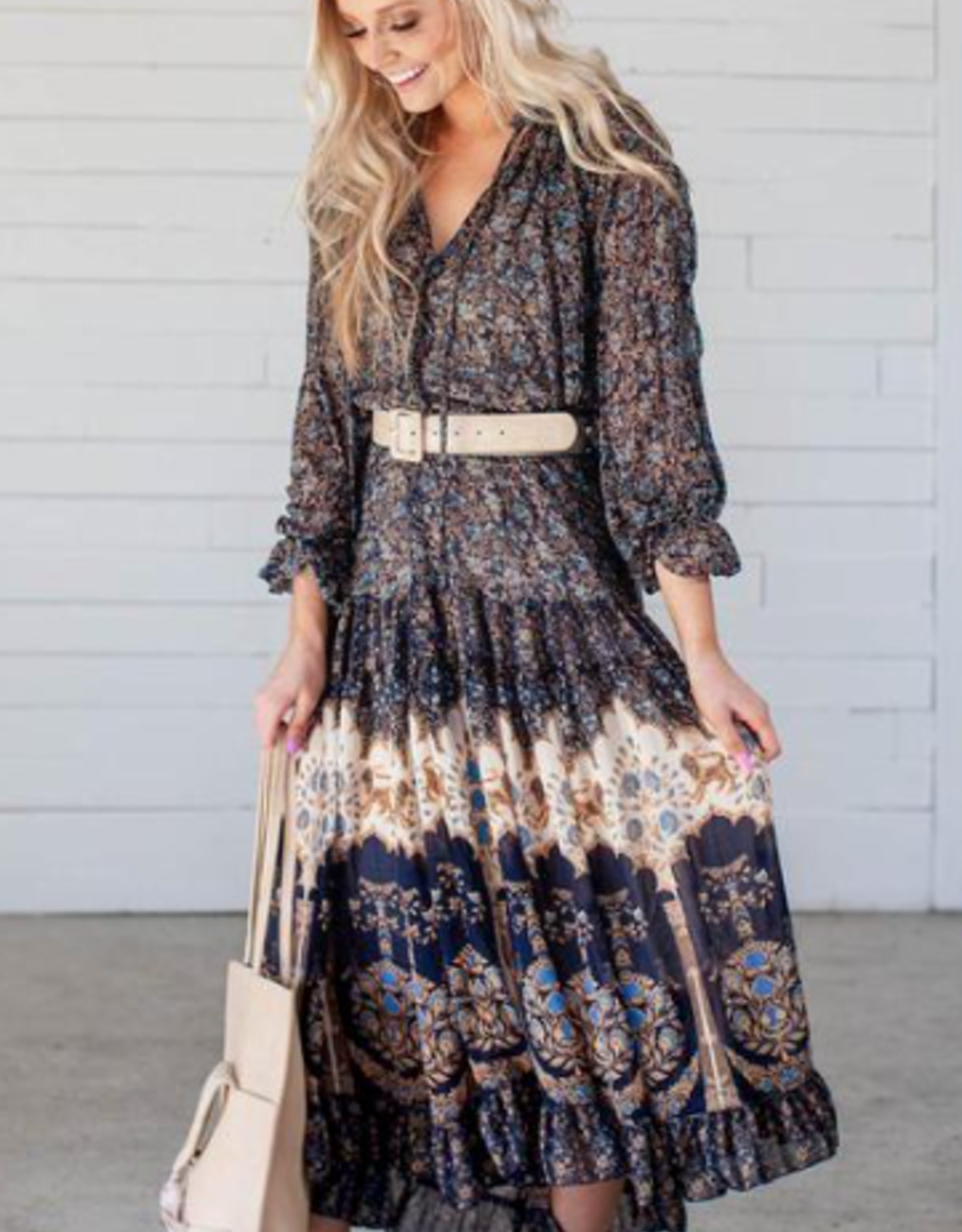 Free People Get your Groove on Midnight Maxi Dress