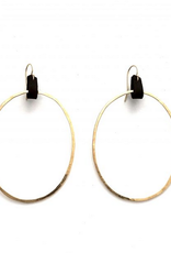 CLP Jewlery Large Hoop With Leather