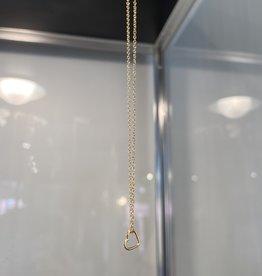 Zina Kao Itty Bitty Heart Necklace Gold