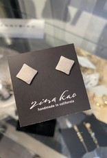 Zina Kao Silver Baby Geo: Square Post Earring