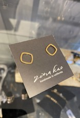 Zina Kao Gold Large Square Post Earring