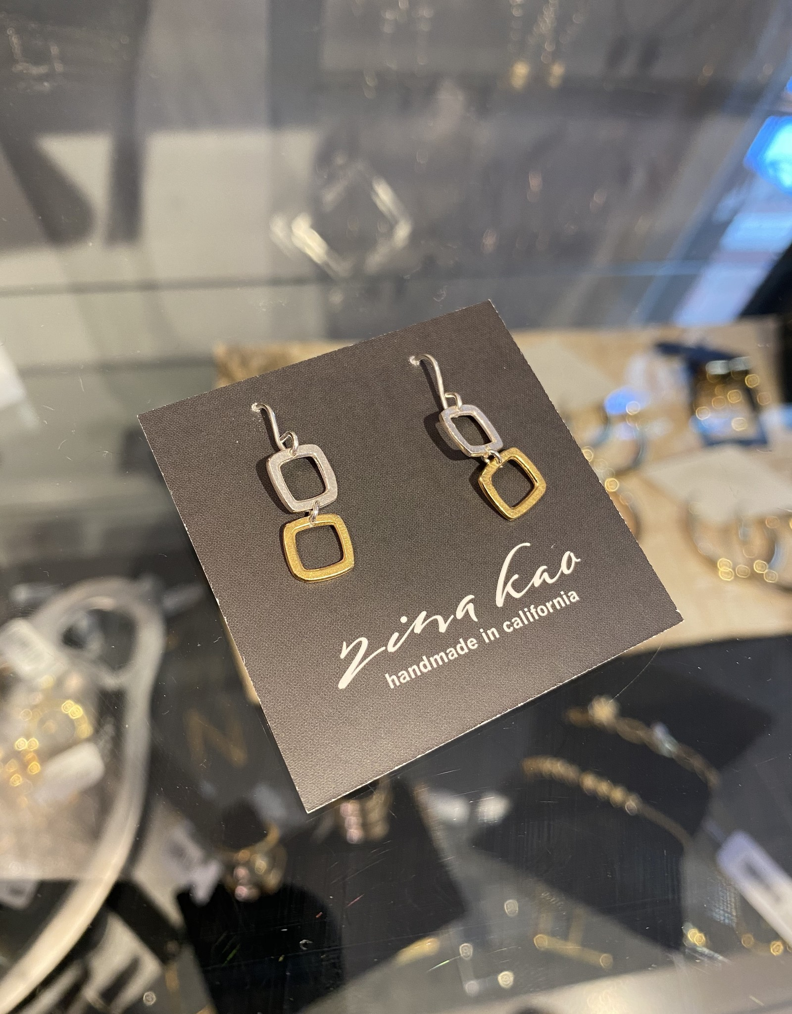 Zina Kao Double Tiny Square Earring