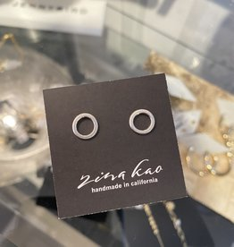 Zina Kao Zina Kao - Silver Ring Post Earring