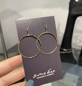 Zina Kao Gold Just Rings Earrings