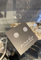 Zina Kao Silver Small Hammered Disc Post Earring