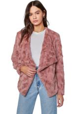 BB Dakota Come Cozy Rose Taupe Jacket