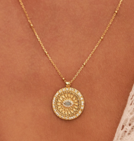 Gold Blessed Eye Necklace