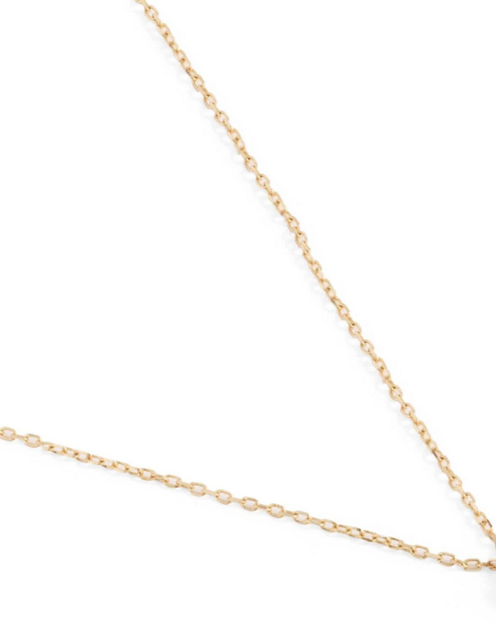 By Charlotte 14k Gold Sweet Diamond Drop Necklace
