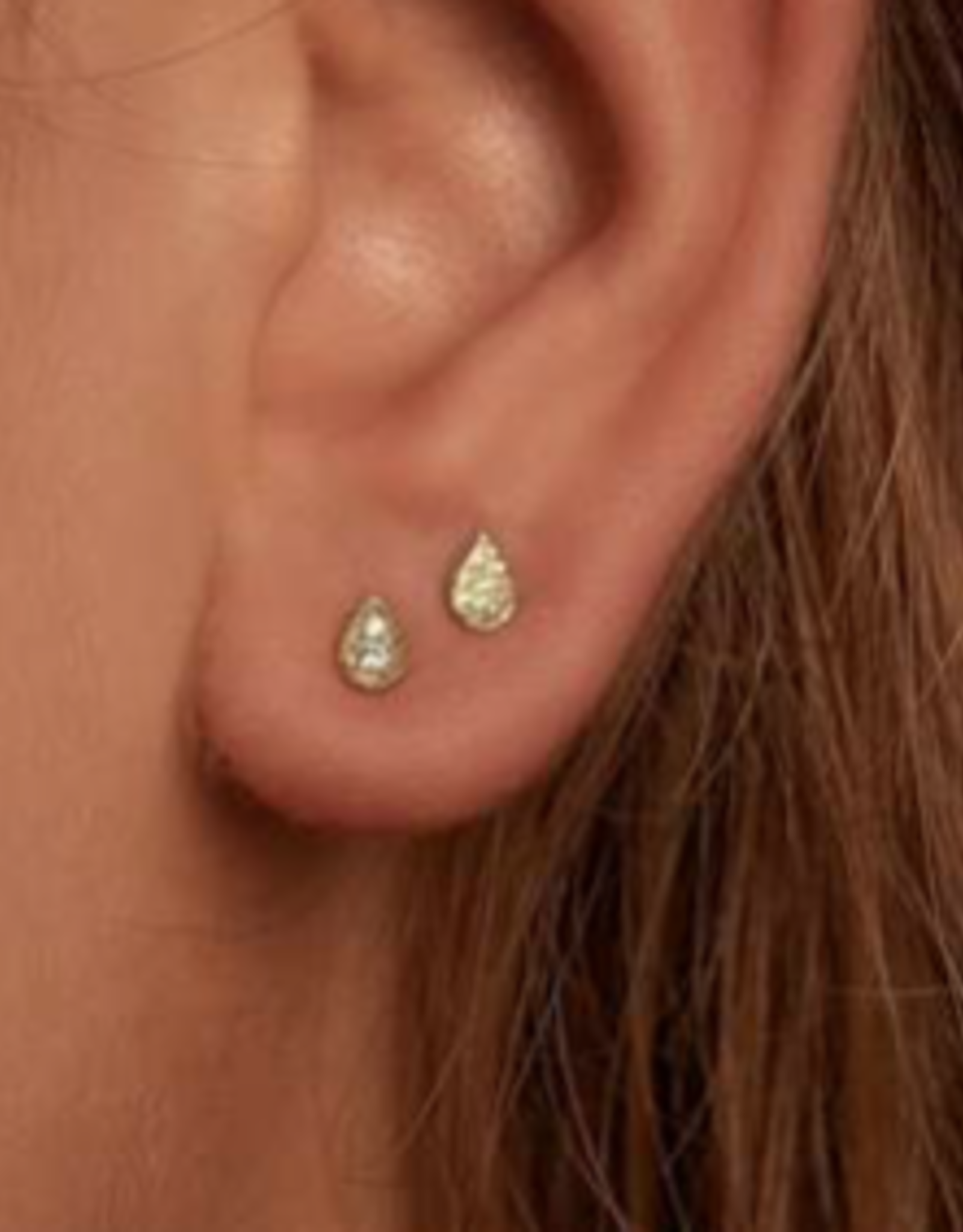 By Charlotte By Charlotte Gold Illuminate Stud Earrings