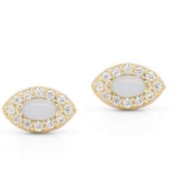 By Charlotte Gold Eye of Protection Earrings