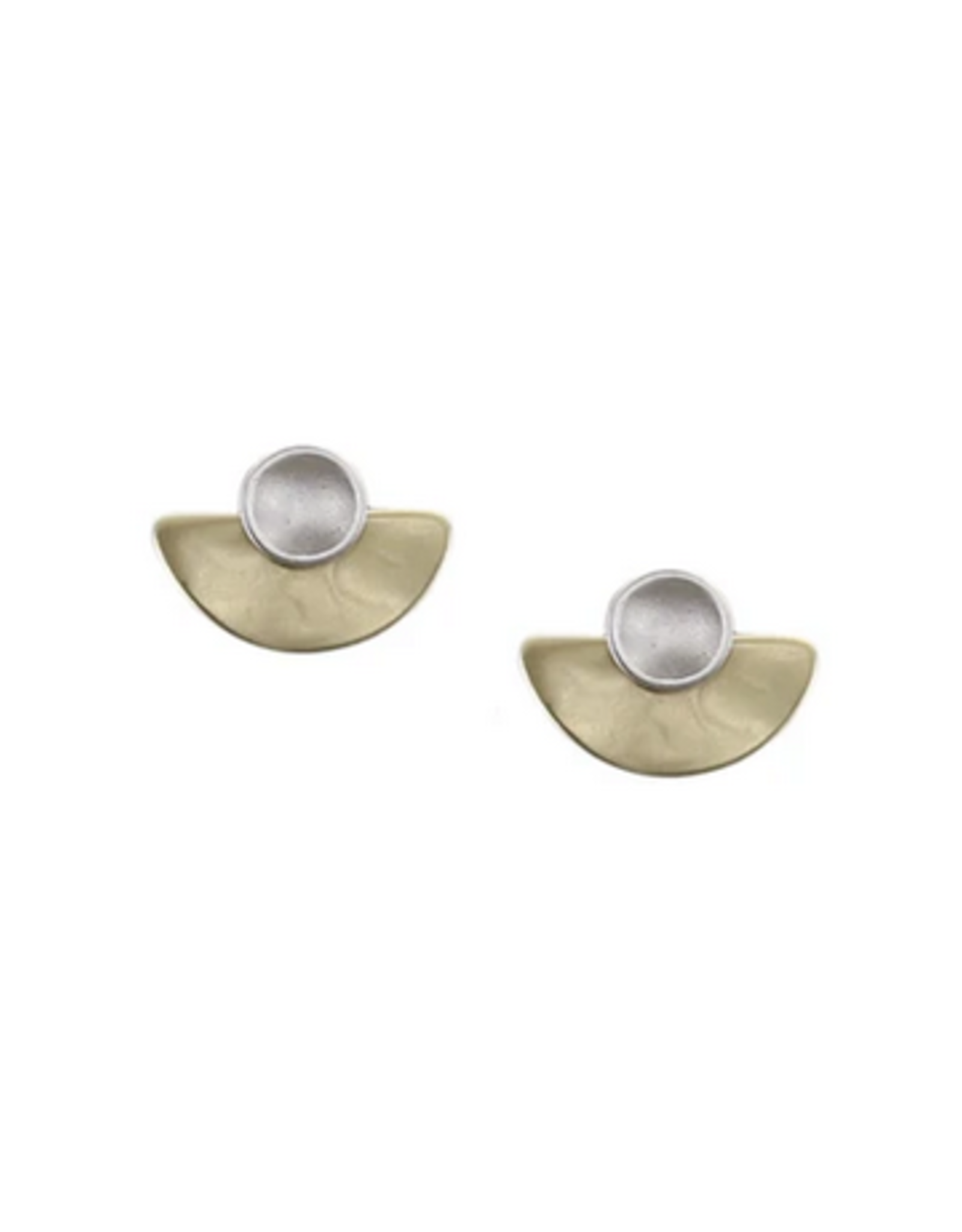 Marjorie Bear Marjorie Bear Jewelry Small Dished Disc with Semi Circle Post Earring