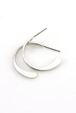Marjorie Baer Marjorie Baer E8303 Small Hammered Hoop Post Earring