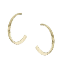Marjorie Baer Hammered Hoop Post Earring