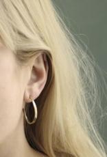 Marjorie Baer Marjorie Baer E9007 Hammered Hoop Post Earrings