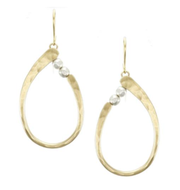 Marjorie Baer Oval Ring Earring with Beads
