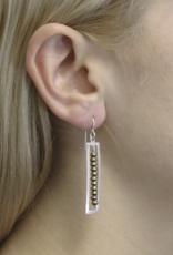 Marjorie Baer Marjorie Baer E8066DW Square Frame with Bead Line Earring