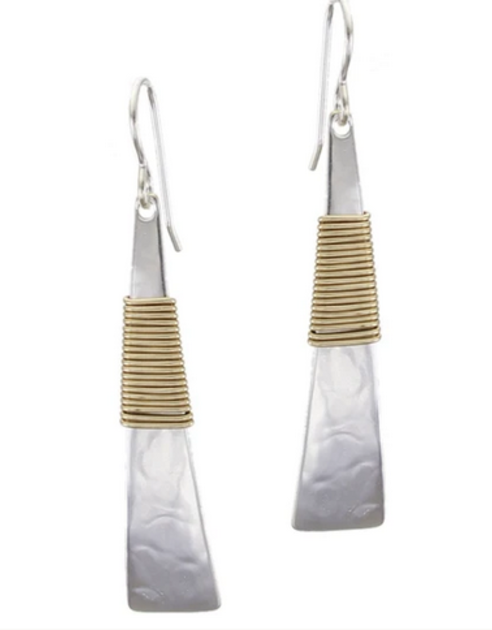 Marjorie Baer Marjorie Baer Long Wire Wrapped Triangle Wire Earring E0188RDW
