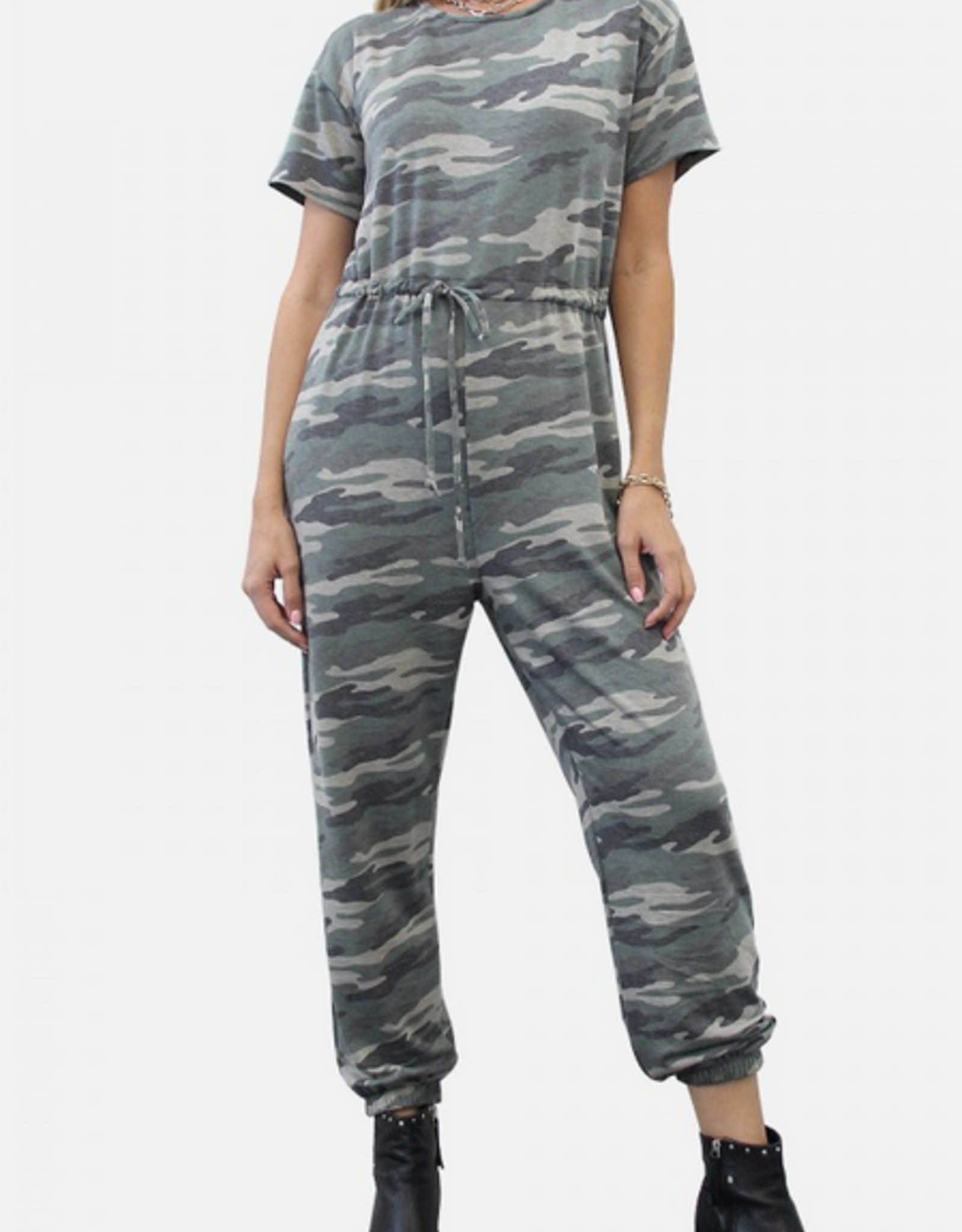 Coin 1804 French Terry Jogger Jumpsuit Camo