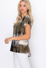 Coin 1804 Olive Grey Short Sleeve Button Back Shirt