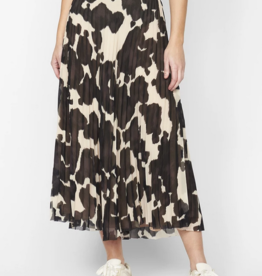 Sanctuary Pleat It Midi Skirt - Pony Print