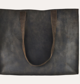 Kiko Leather Raw Edge Tote