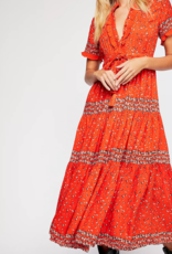 Free People Rare Feelings Pop Combo Maxi Dress
