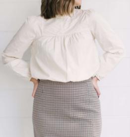BB Dakota Check It Out Walnut Skirt