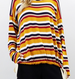 Coin 1804 Multi Color Stripe Long Sleeve
