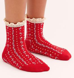 Free People Waffle Knit Ankle Socks