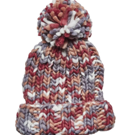 San Diego Hat Co Women's multi yarn ponytail beannie with cuff