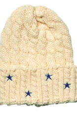 San Diego Hat Co  Women's Cable Knit Beanie with Star Embroider